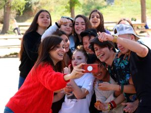 Group of students having fun